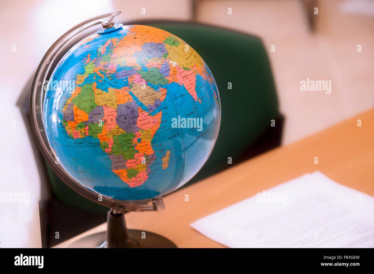 Political map europe north america stock photos political map world globe stock image gumiabroncs Choice Image