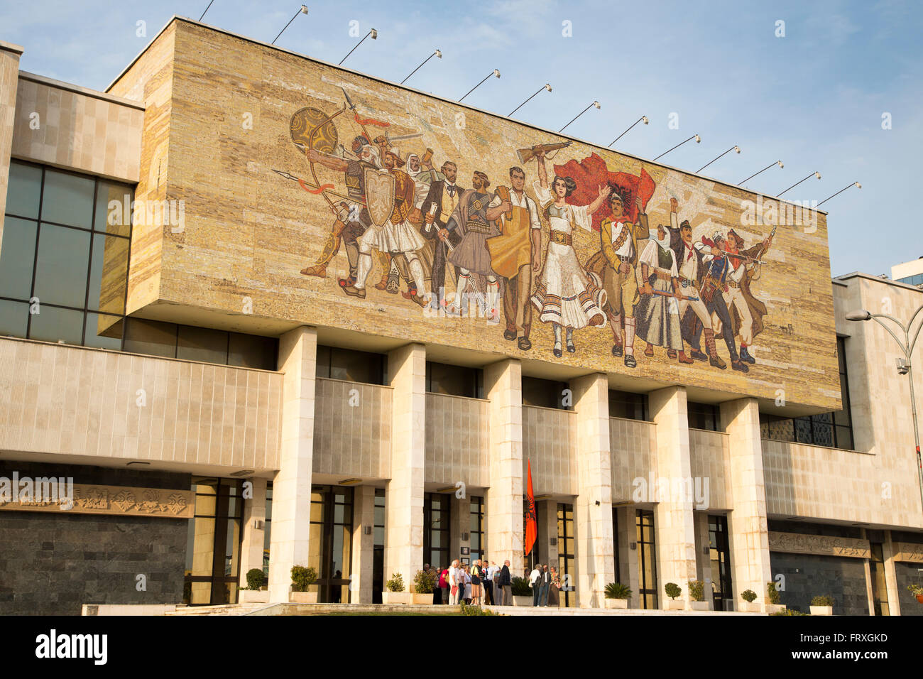 Exterior of National History Museum near Skanderbeg Square, Tirana, Albania - Stock Image