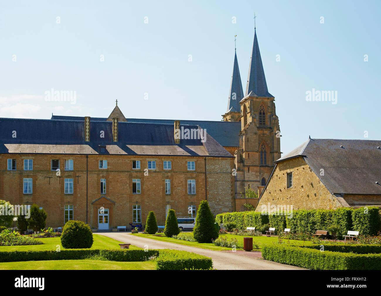 Former Benedictine monastery, Mouzon, Vallée de Meuse, Dept. Ardennes, Region Champagne-Ardenne, France, Europe - Stock Image