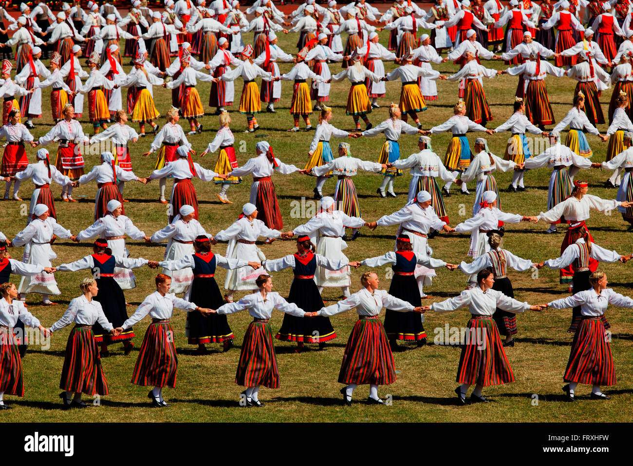 Song and dance festival, Tallinn, Estonia, Baltic States Stock Photo