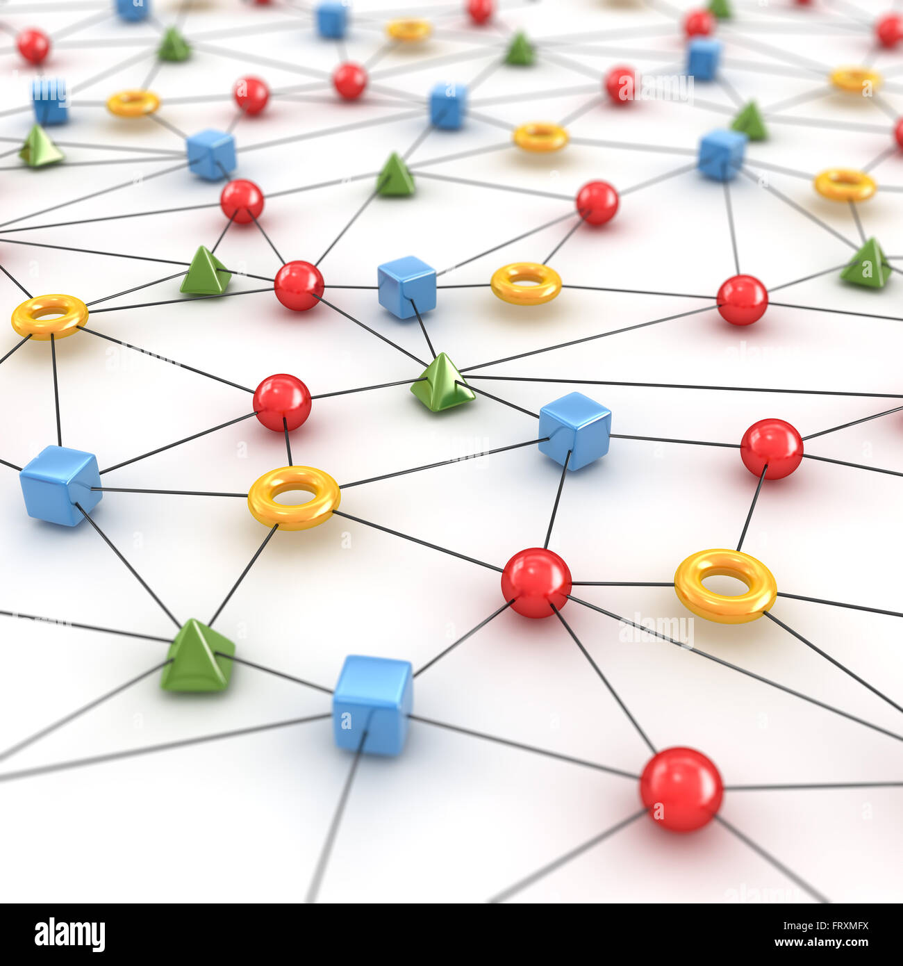 Network Concept with Shape Stock Photo