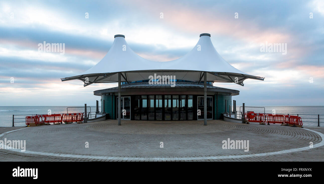 Aberystwyth newly built bandstand  2015 2016 - Stock Image