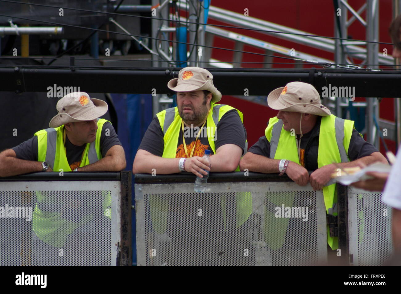 Marshals at Fairport Cropredy Convention - Stock Image