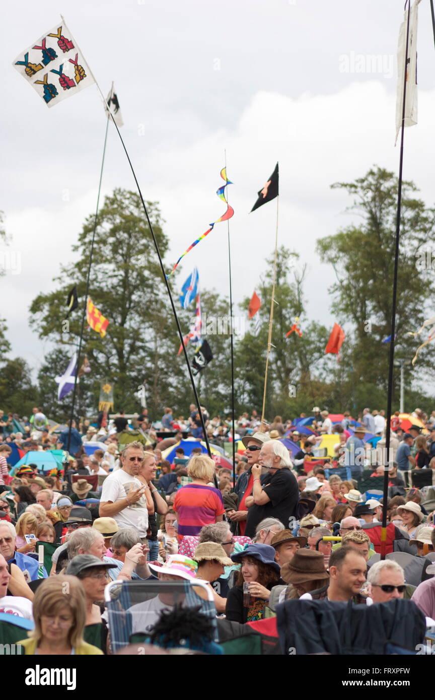 Fairport Cropredy Convention crowds - Stock Image