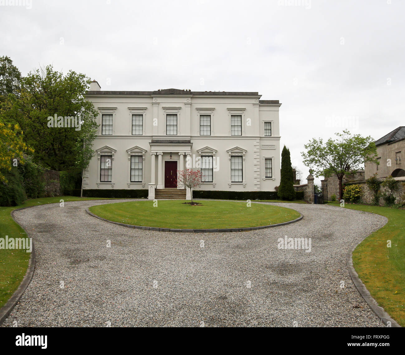 Hatley Manor in Carrick on Shannon, County Leitrim, Ireland. The stately home was the home of the St George family. - Stock Image