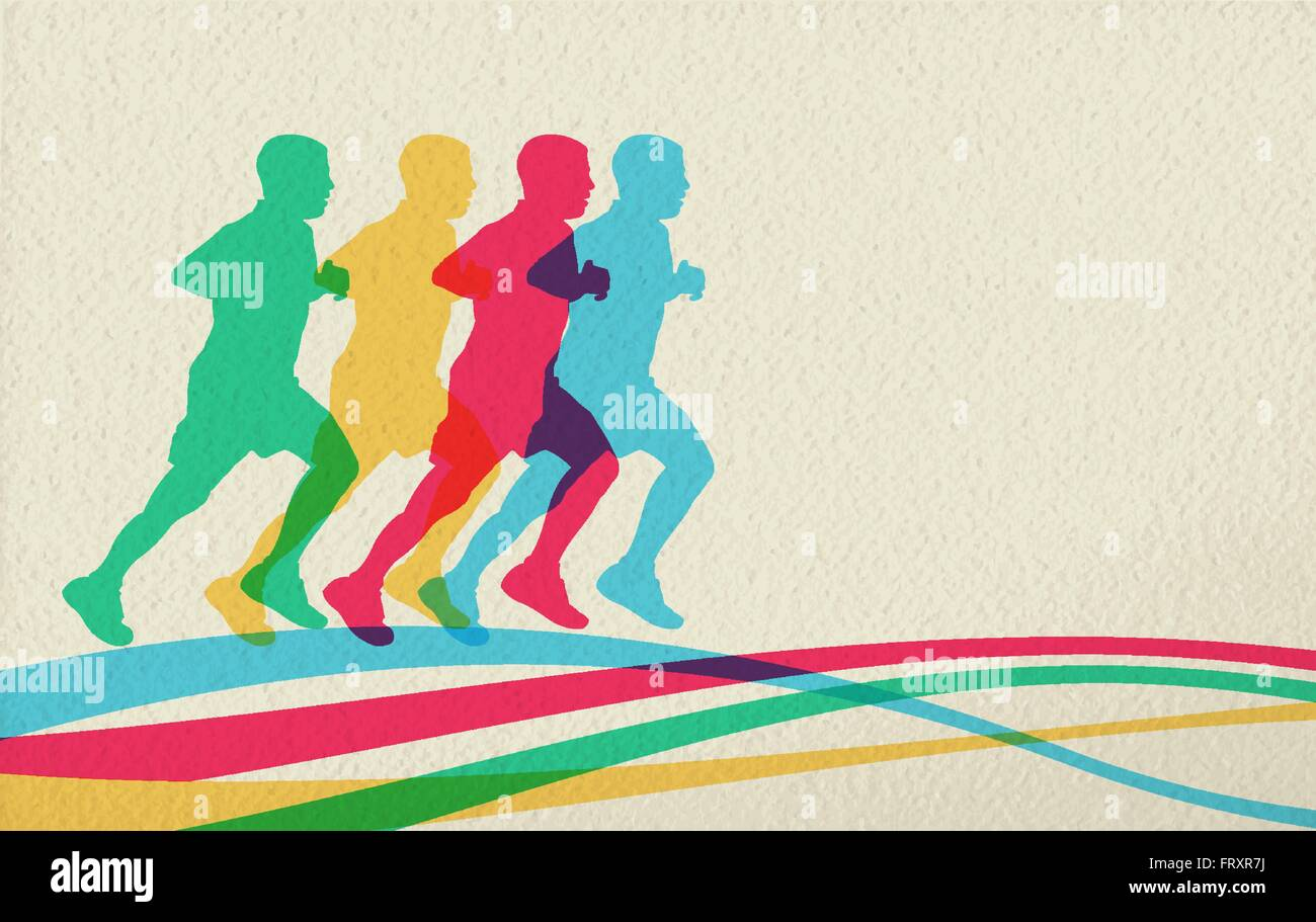 Sport Concept Background With People Men Silhouette