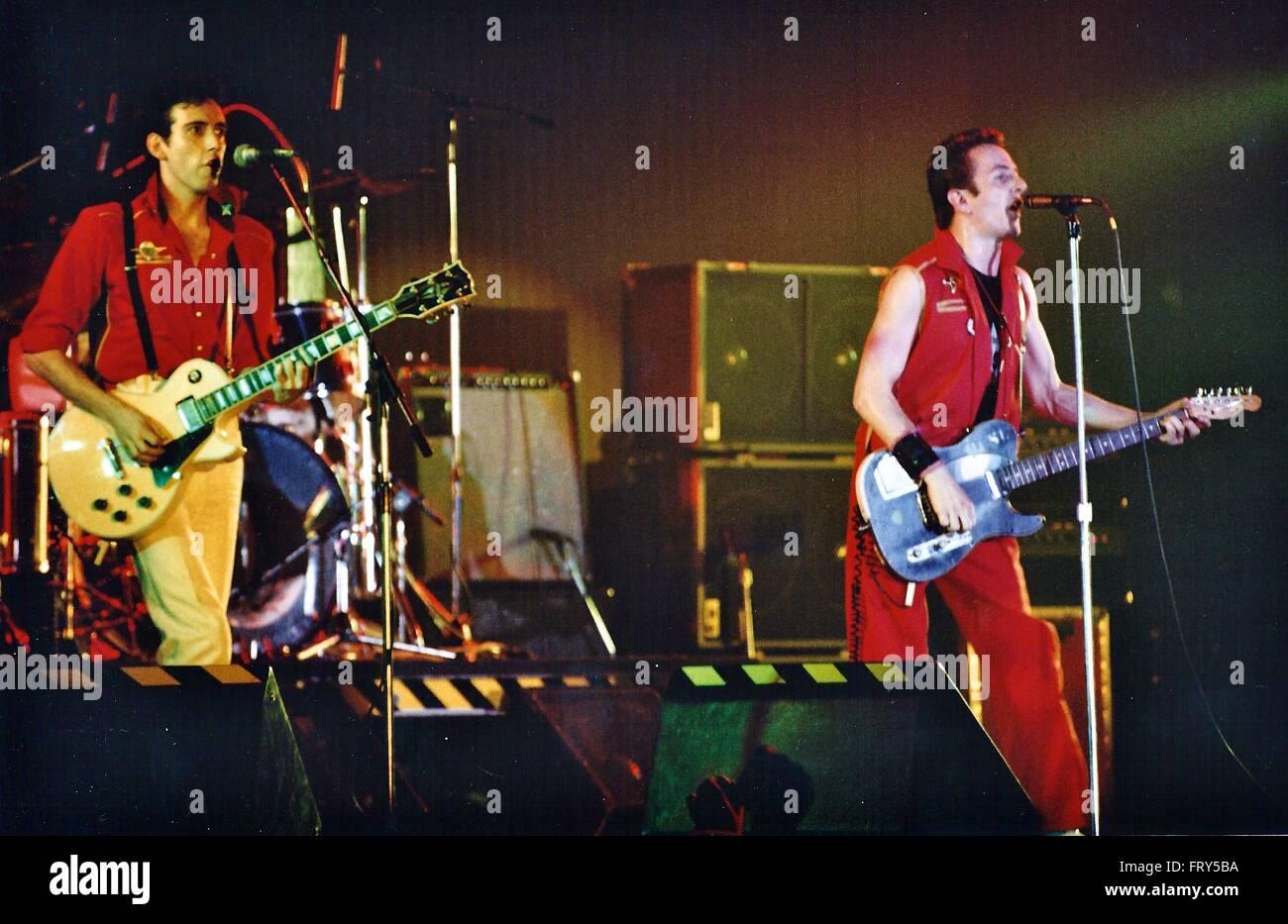 The Clash  5/28/1981 Bonds NY  photo Michael Brito - Stock Image
