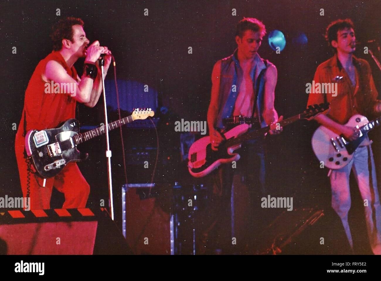 The Clash  5/28/81  Bonds NY photo  Michael Brito - Stock Image