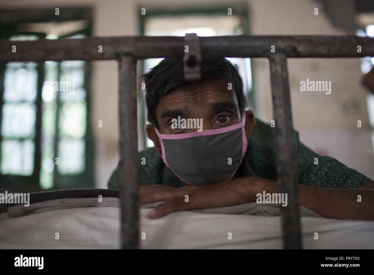 Dhaka, Dhaka, Bangladesh. 24th Mar, 2016. SAMSUL HAQUE (50) is from Tangail district, suffering from TB for last - Stock Image