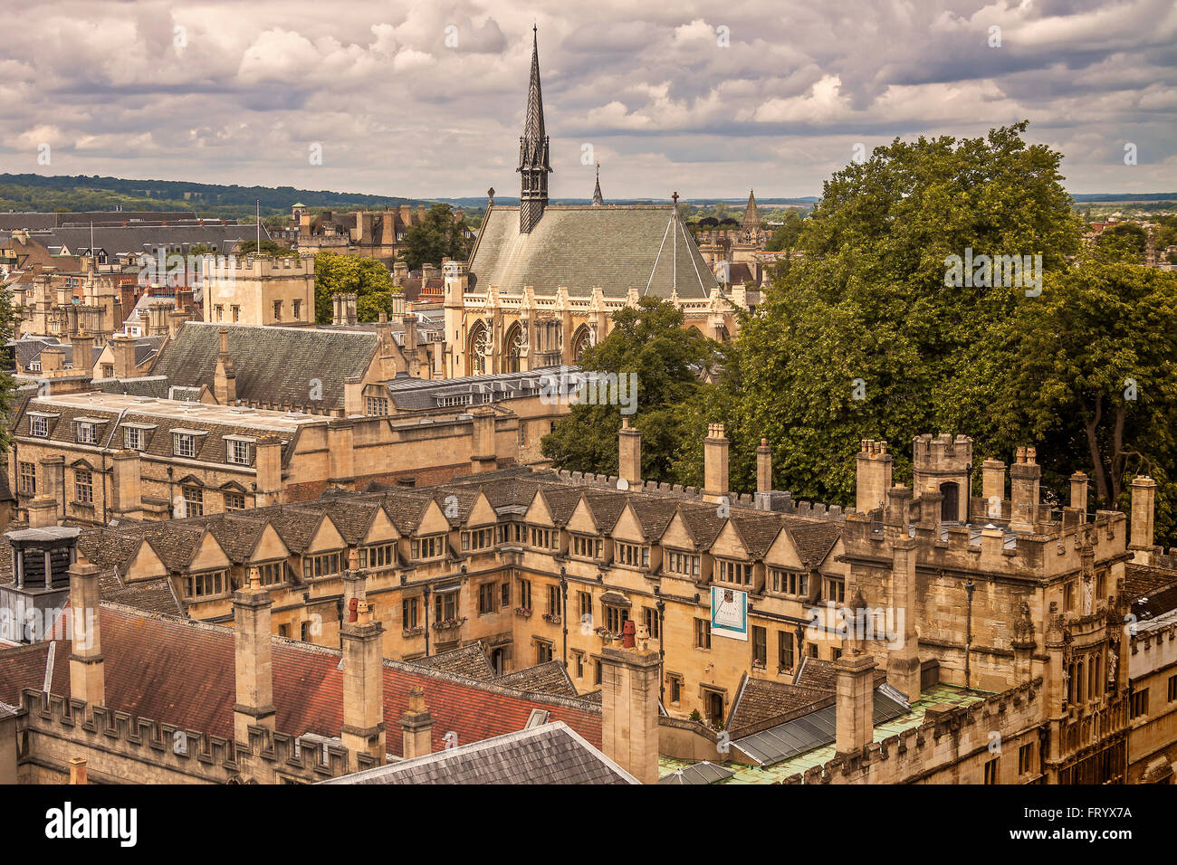 Exeter and Brasenose Colleges Oxford UK - Stock Image