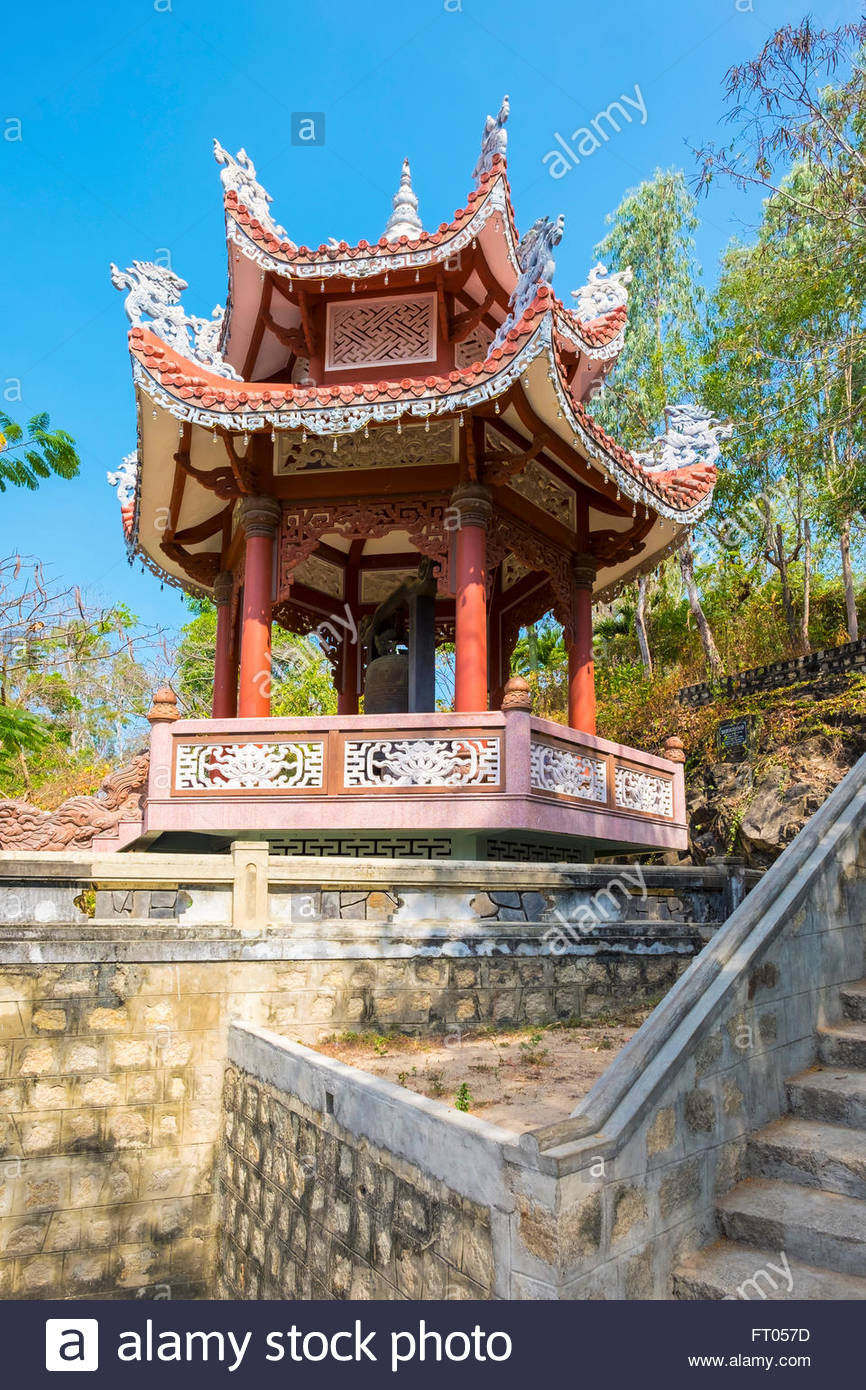 Small pagoda at Chua Long Son buddhist temple, Nha Trang, Khanh Hoa Province, Vietnam - Stock Image