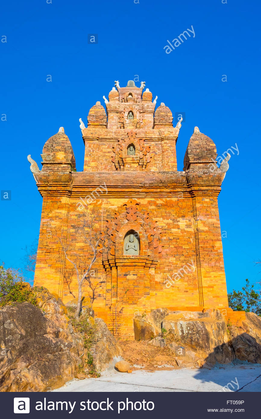 Po Ro Me temple ruins, 17th centrury Cham tower, Ninh Phuoc District, Ninh Thuan Province, Vietnam - Stock Image