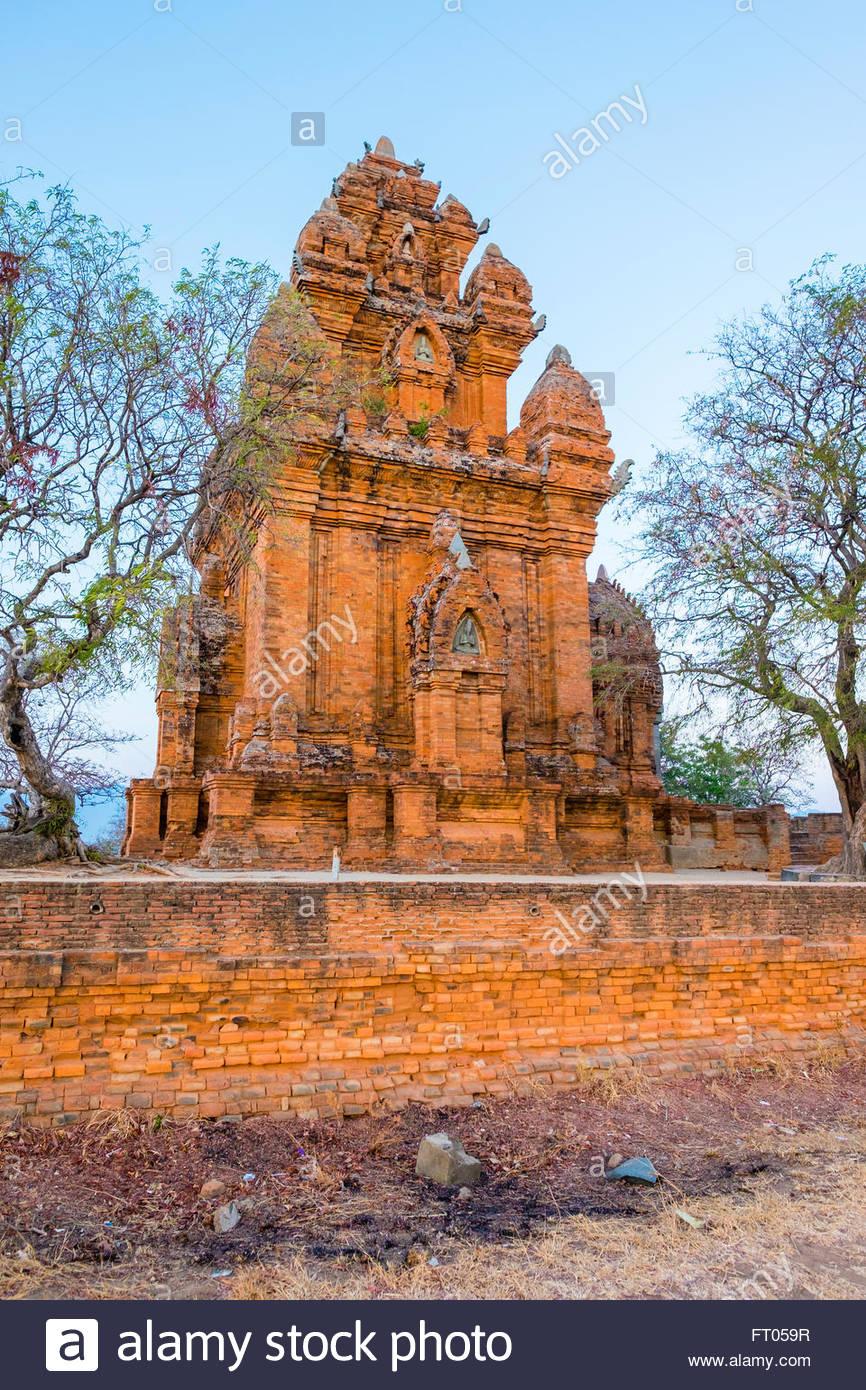 Po Klong Garai temple, 13th century Cham towers, Phan Rang-Thap Cham, Ninh Thuan Province, Vietnam - Stock Image