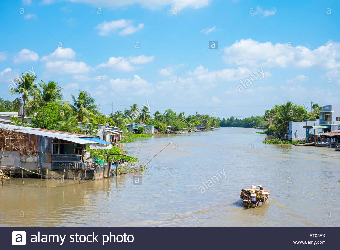 Mekong River delta, Phong Dien District, Can Tho, Vietnam - Stock Image