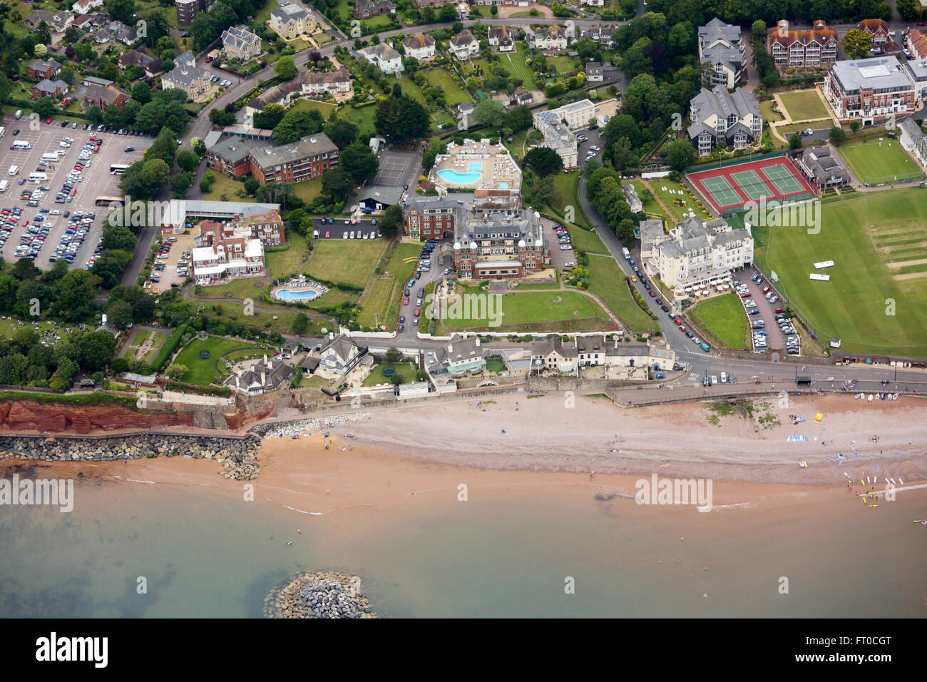 Aerial view of Sidmouth - Stock Image