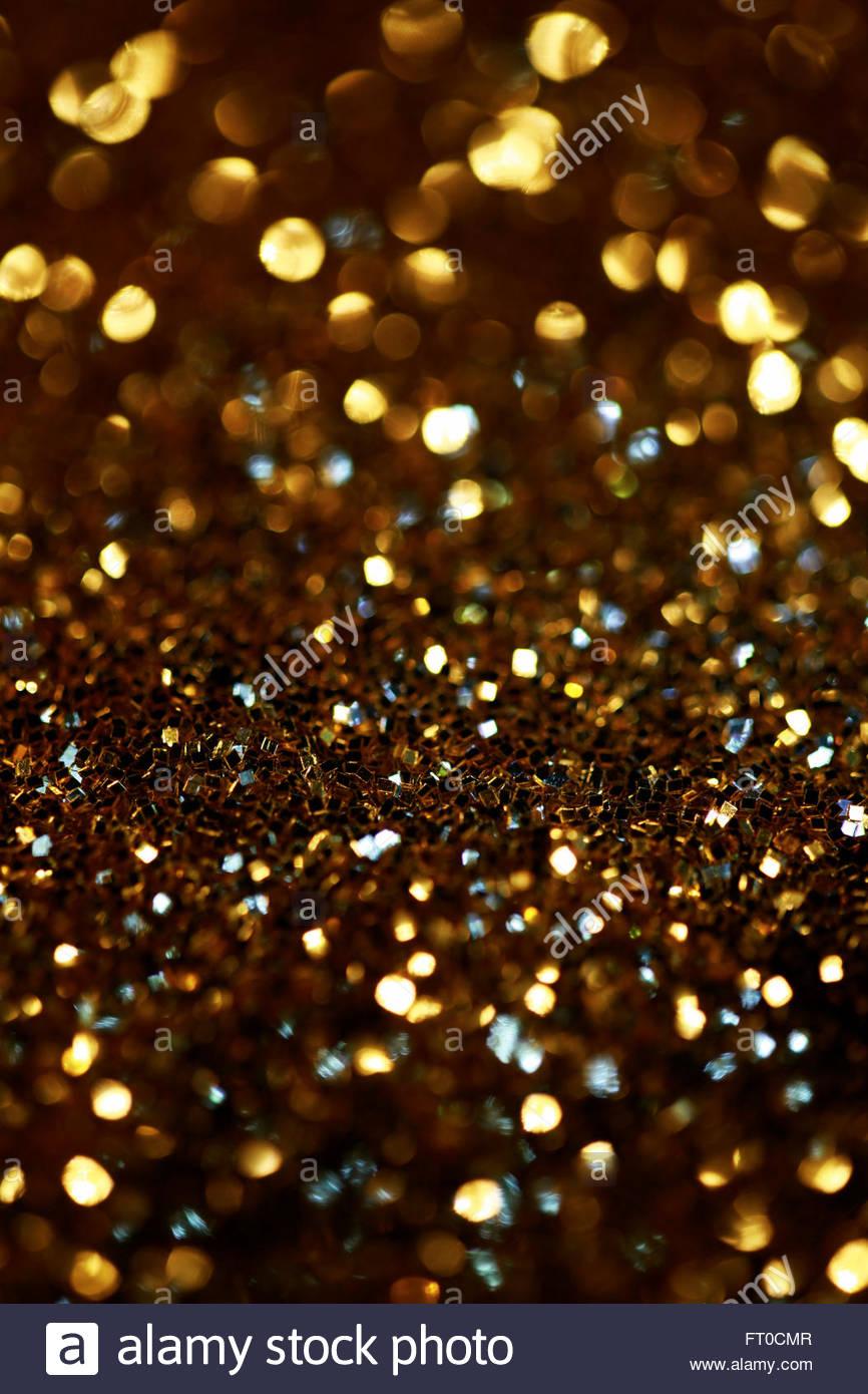 Golden Glitter - Stock Image