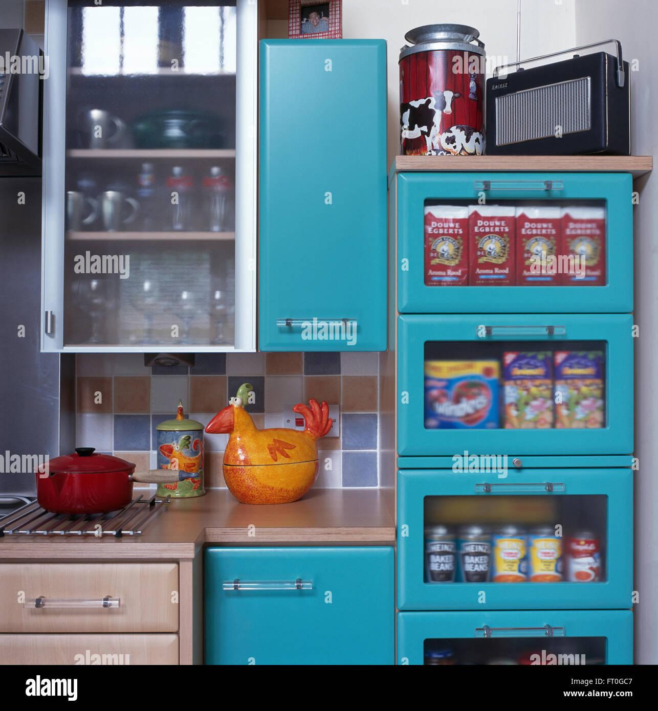Interiors Kitchens Details Cupboards Stock Photos & Interiors ...
