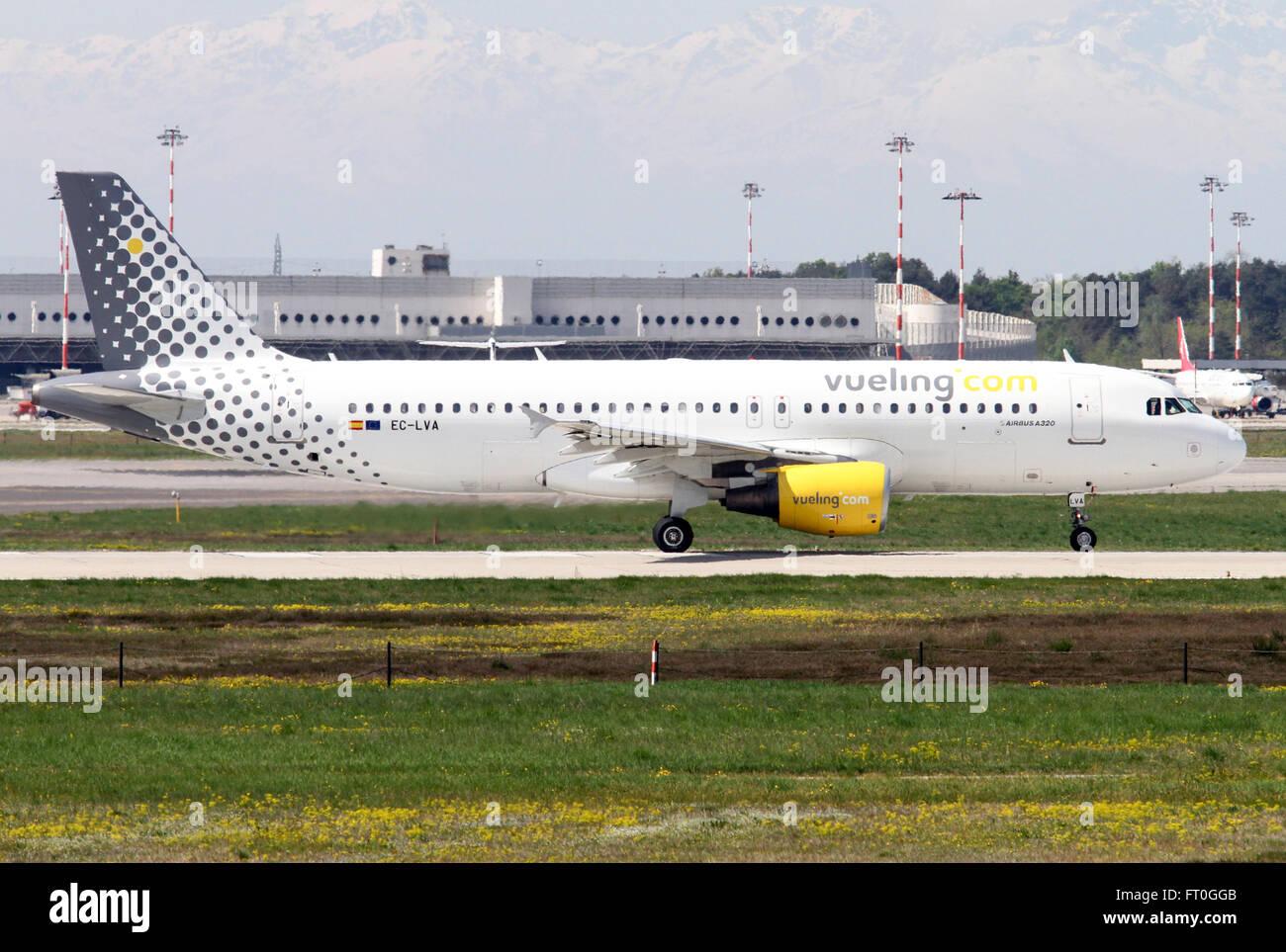 EC-LVA Vueling Airbus A320-200 - Stock Image