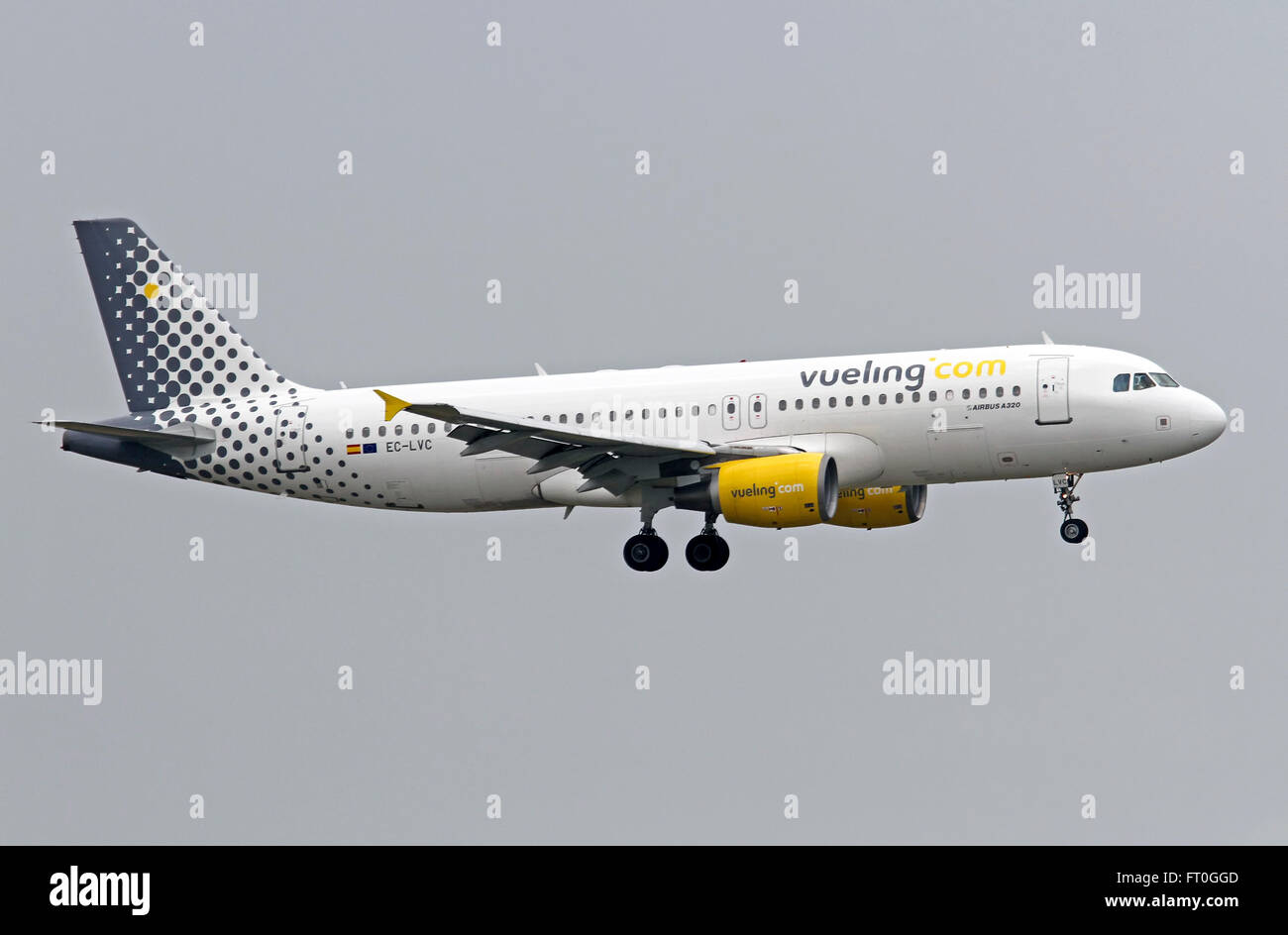 EC-LVC Vueling Airbus A320-200 - Stock Image
