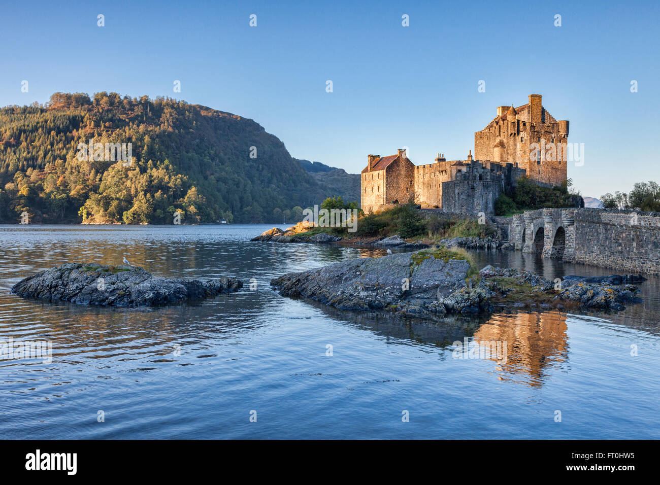 Autumn at Eilean Donan Castle, Highland, Scotland, UK - Stock Image