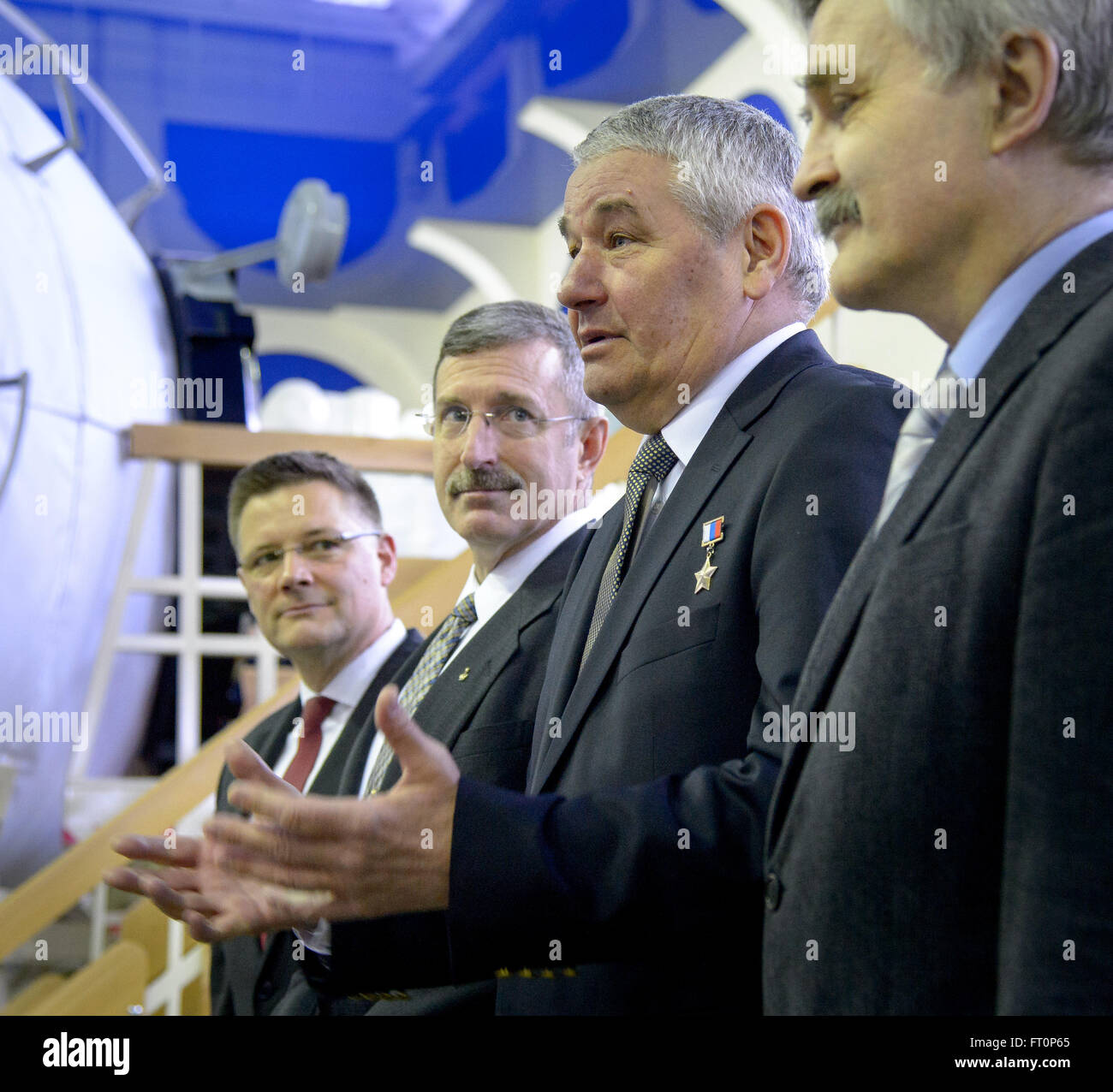 Gagarin Cosmonaut Training Center (GCTC) Chief Cosmonaut, and Final Exam Commission Co-Chair Valery Korzun, 3rd - Stock Image