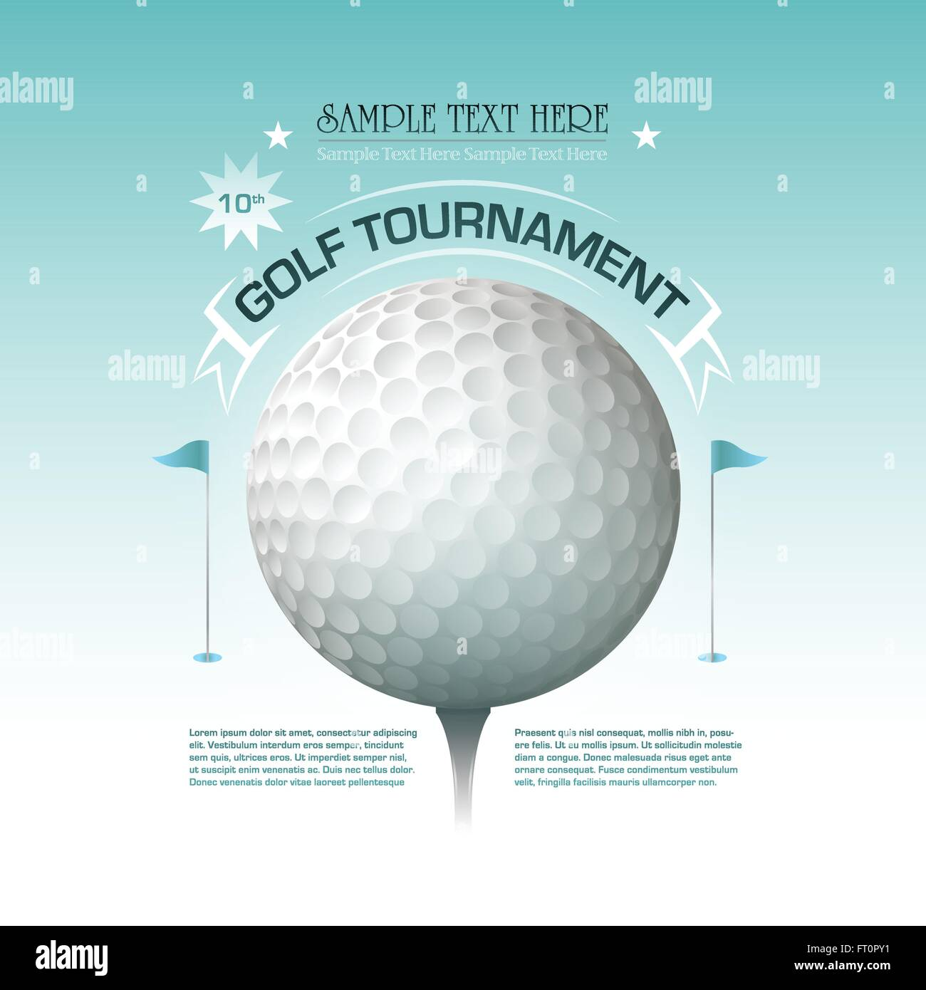 Golf tournament invitation banner background stock vector art golf tournament invitation banner background stopboris Images