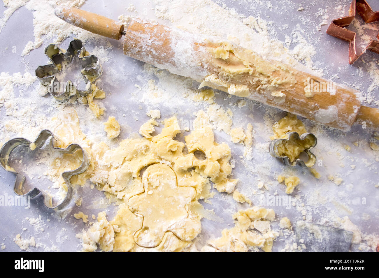 Baking Holiday Cookies (Messy Counter)Stock Photo