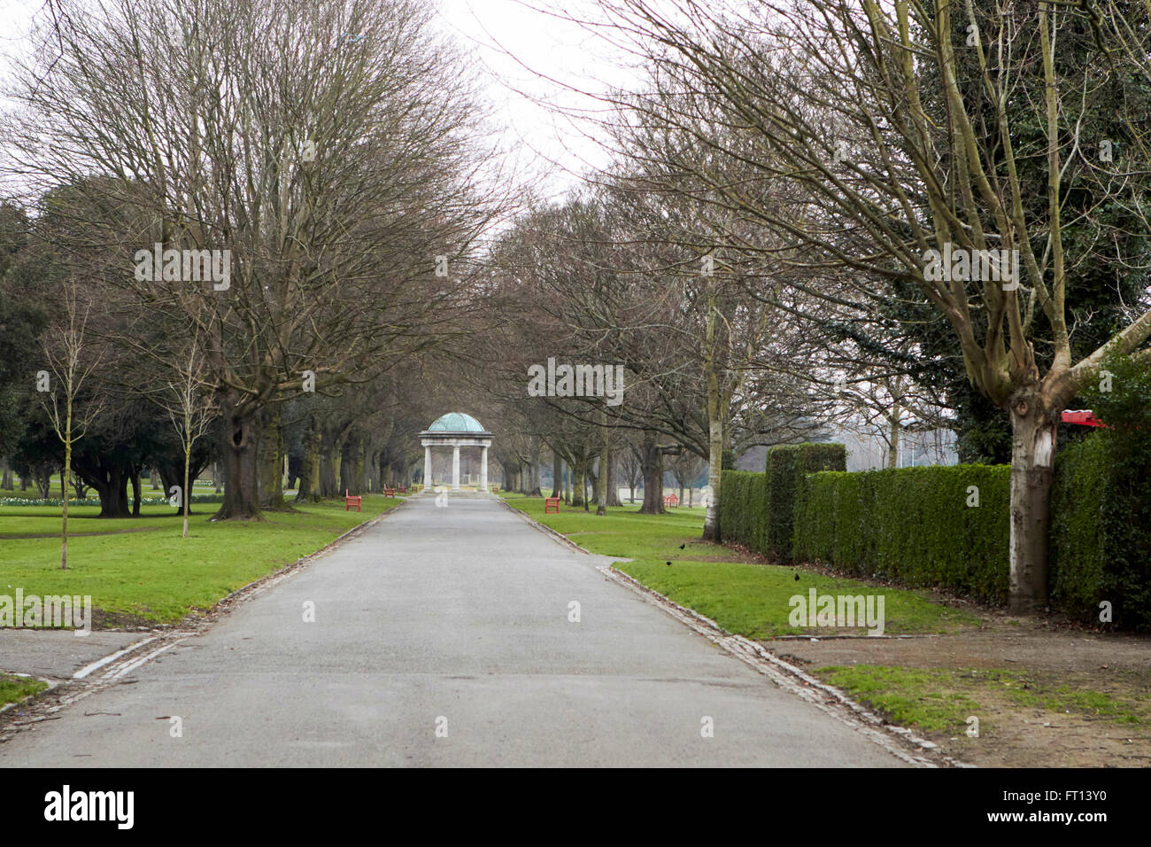 entrance to the irish national war memorial gardens dublin Ireland - Stock Image