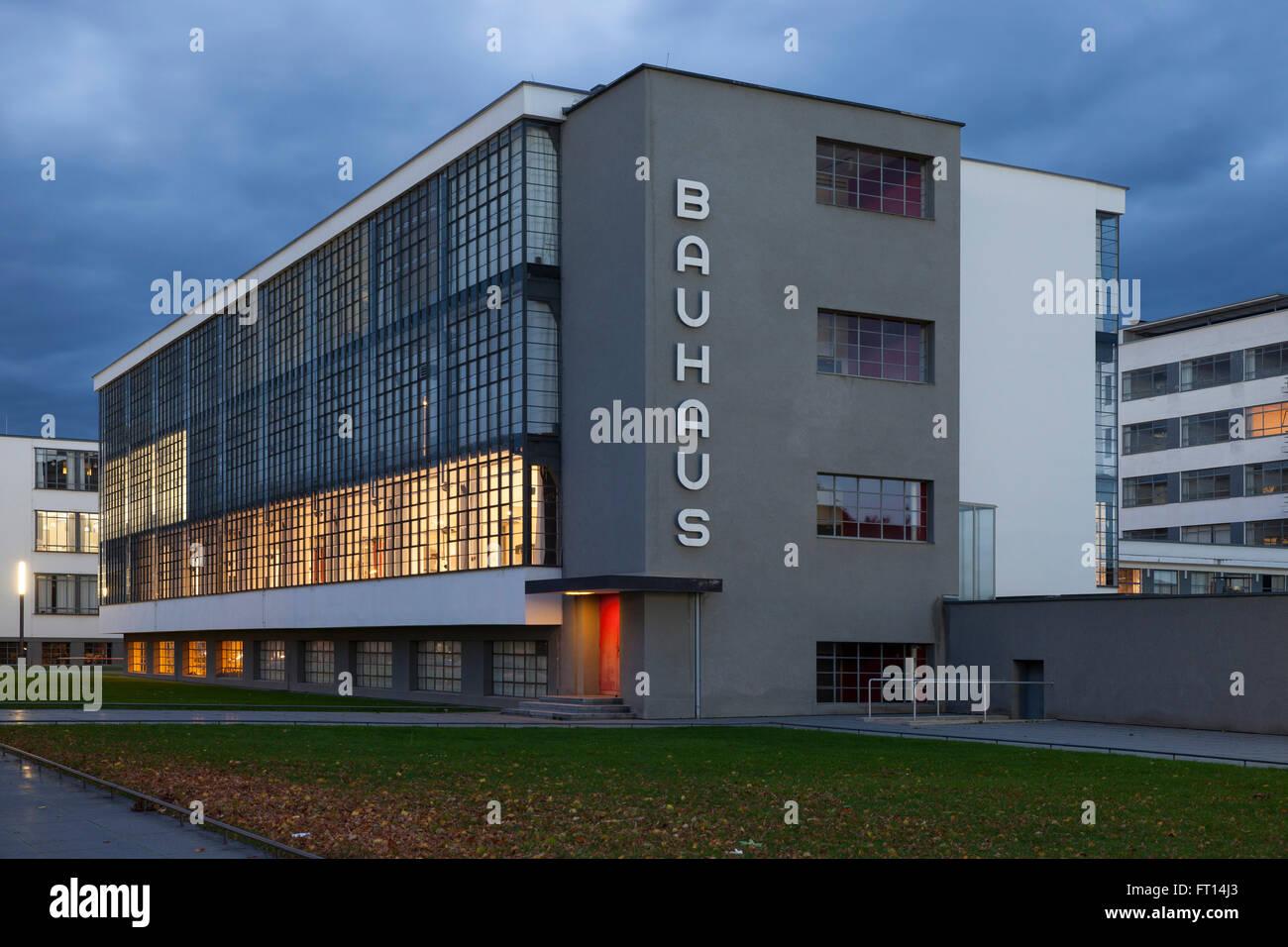 Bauhaus Dessau Dessau Rosslau Saxony Anhalt Germany Stock