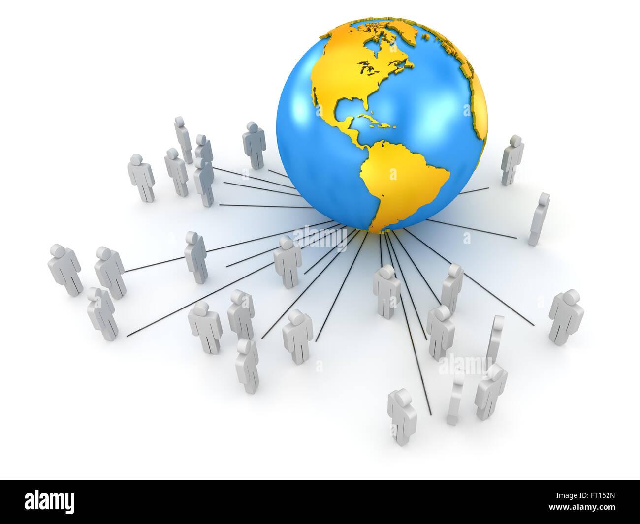 Global Communications - Stock Image