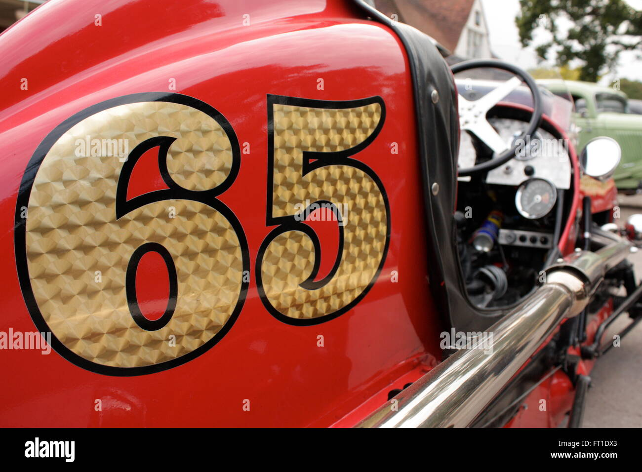 Number 65 on a Hotrod racing car Stock Photo: 100836459 - Alamy