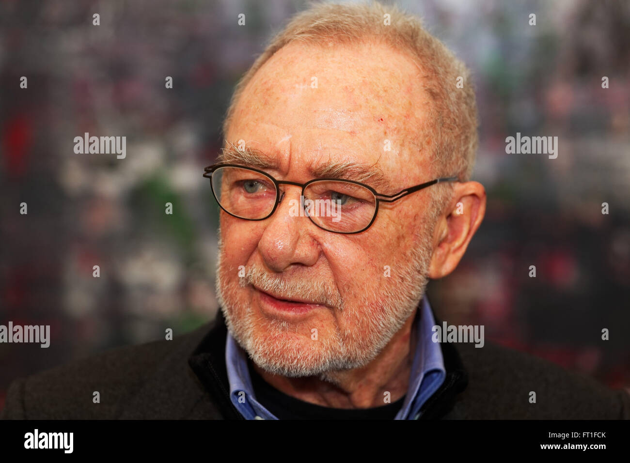 Baden-Baden, Germany. 5th February, 2016. Gerhard Richter press conference to his new exhibition 'Birkenau' - Stock Image