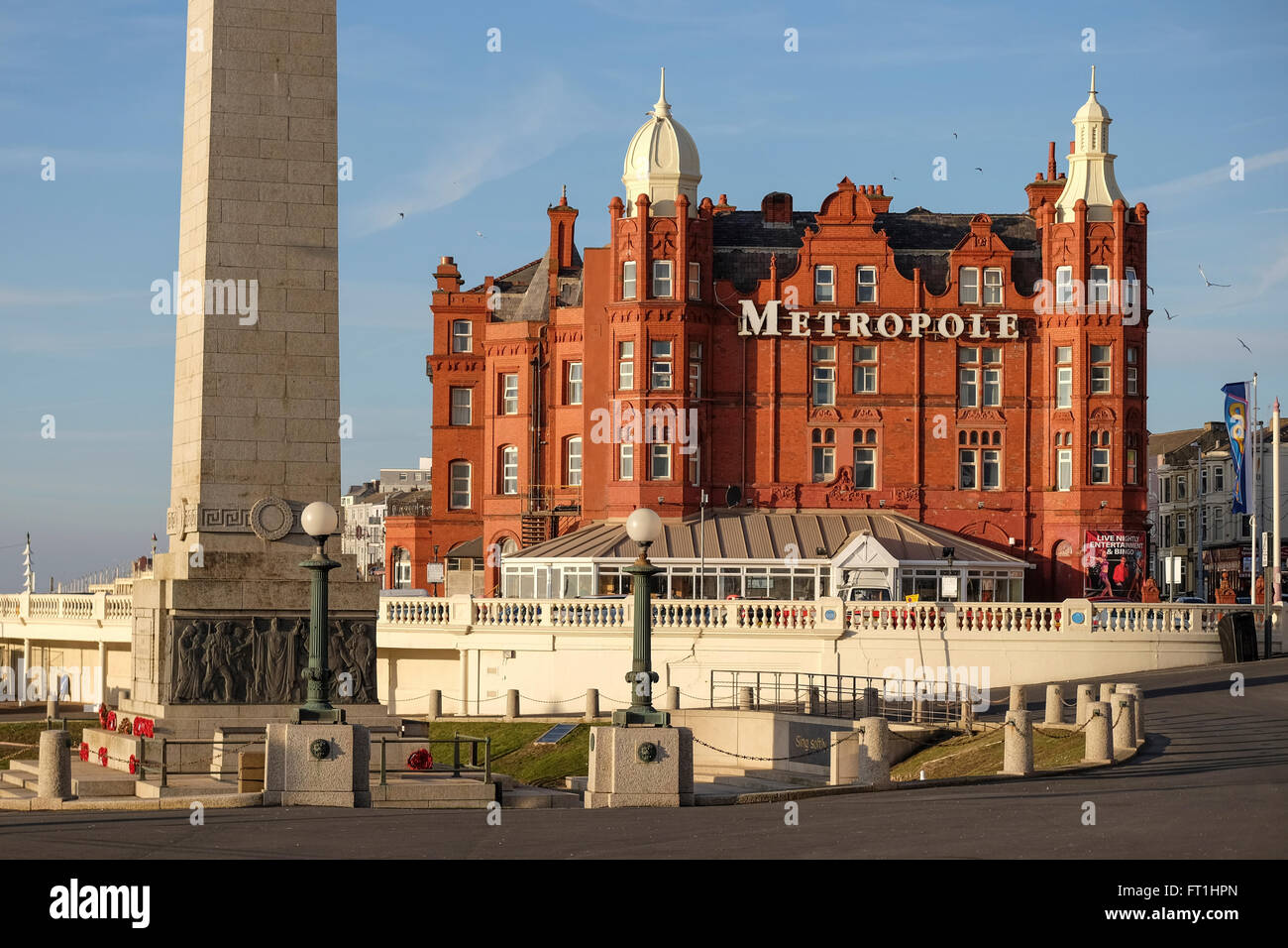 The Metropole Hotel on the Sea front at Blackpool - Stock Image