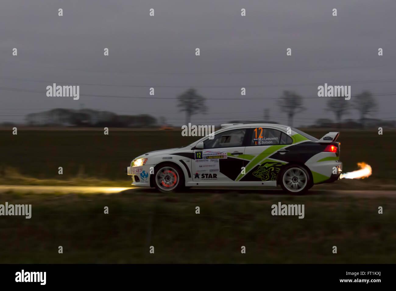 Mitsubishi Rally Car Stock Photo: 100841178 - Alamy
