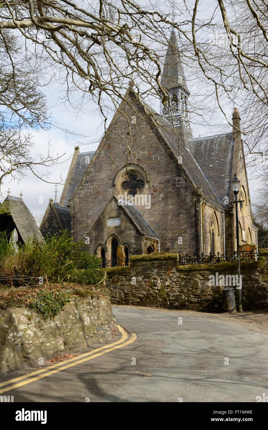 Luss Parish Church in Luss, Argyll and Bute, Scotland, UK - Stock Image