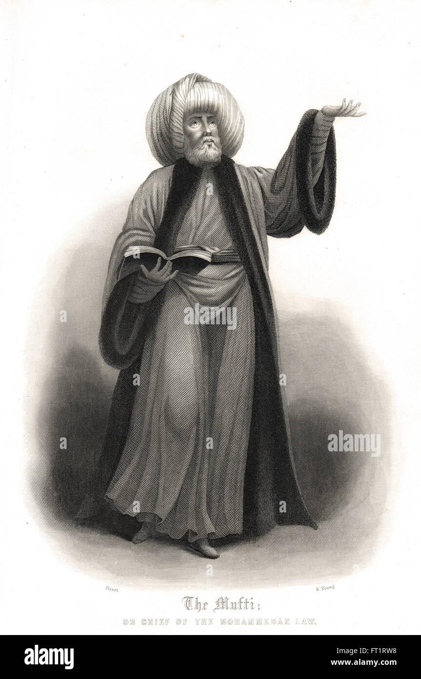 Mufti Scholar and interpreter of Islamic Law - Stock Image