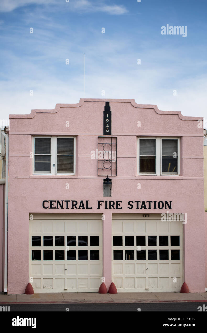The Central Fire Station in Marfa, Texas - Stock Image