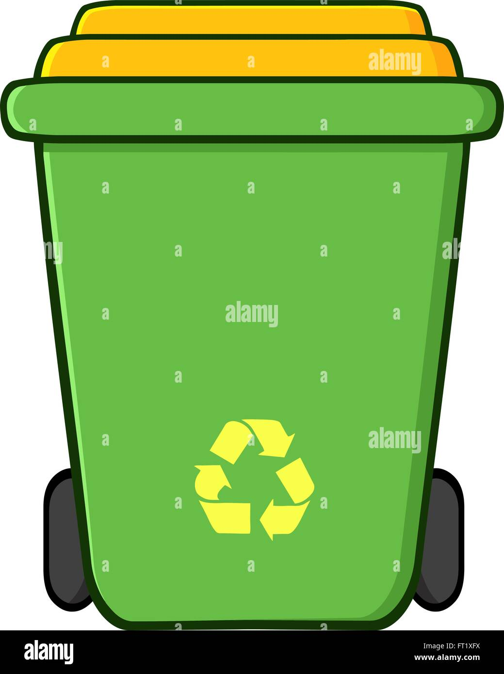 Outdoor Trash Can Stock Vector Images - Alamy
