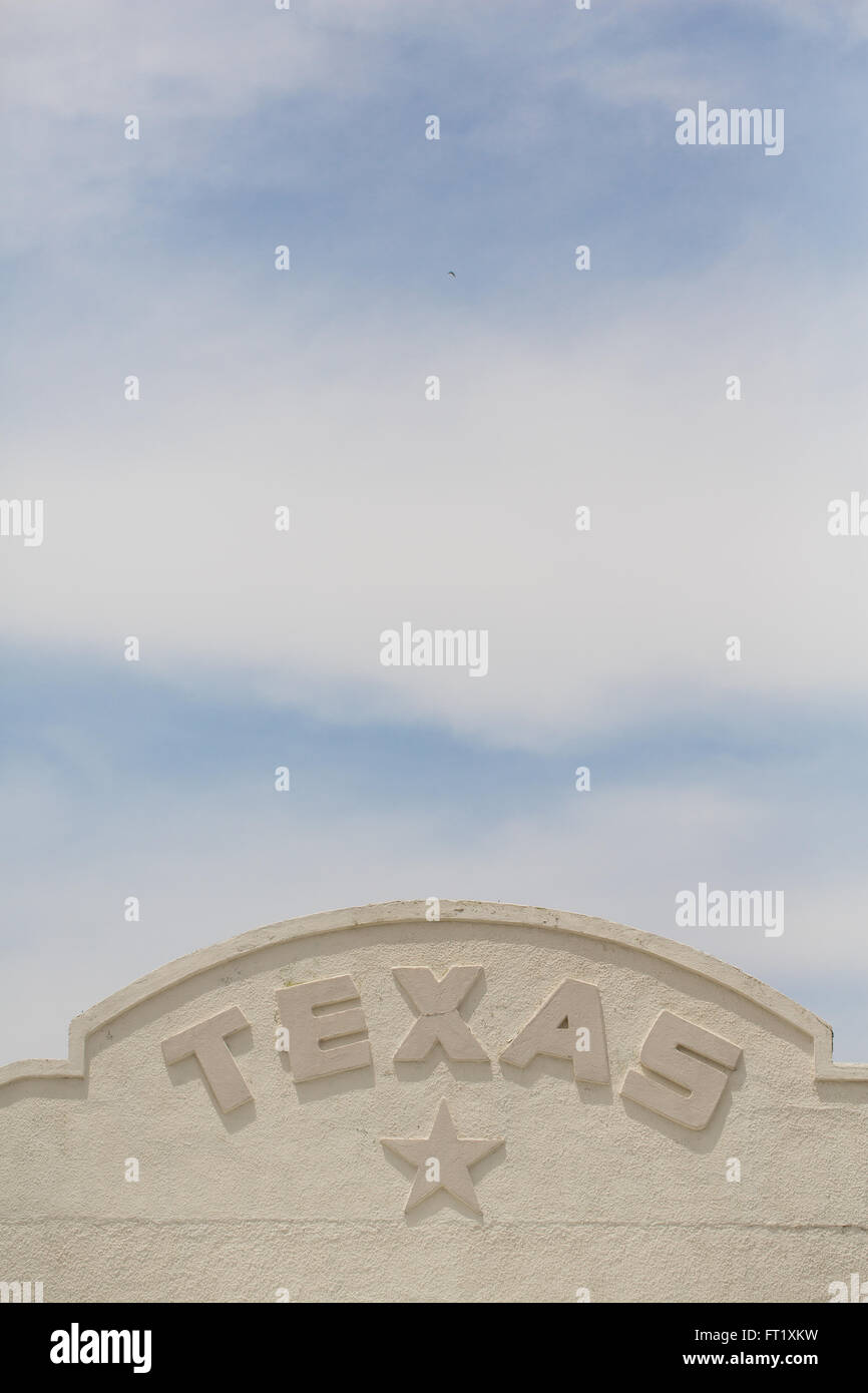 TEXAS sign - Stock Image