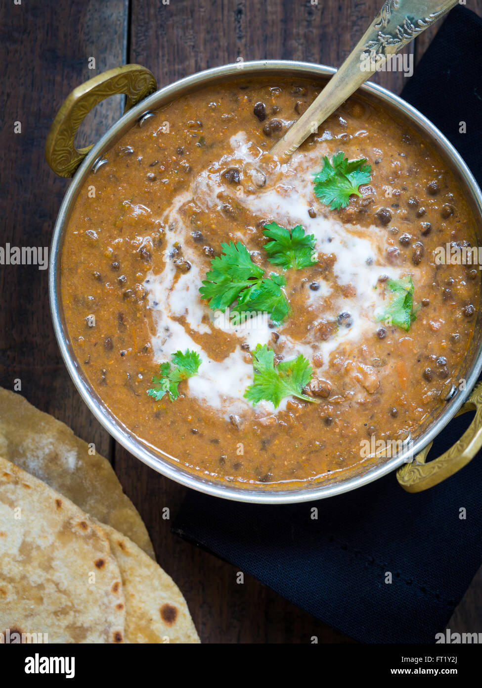 """Dal makhani (""""Buttery Lentil""""), a popular dish originating from the Punjab region of India and Pakistan. Stock Photo"""
