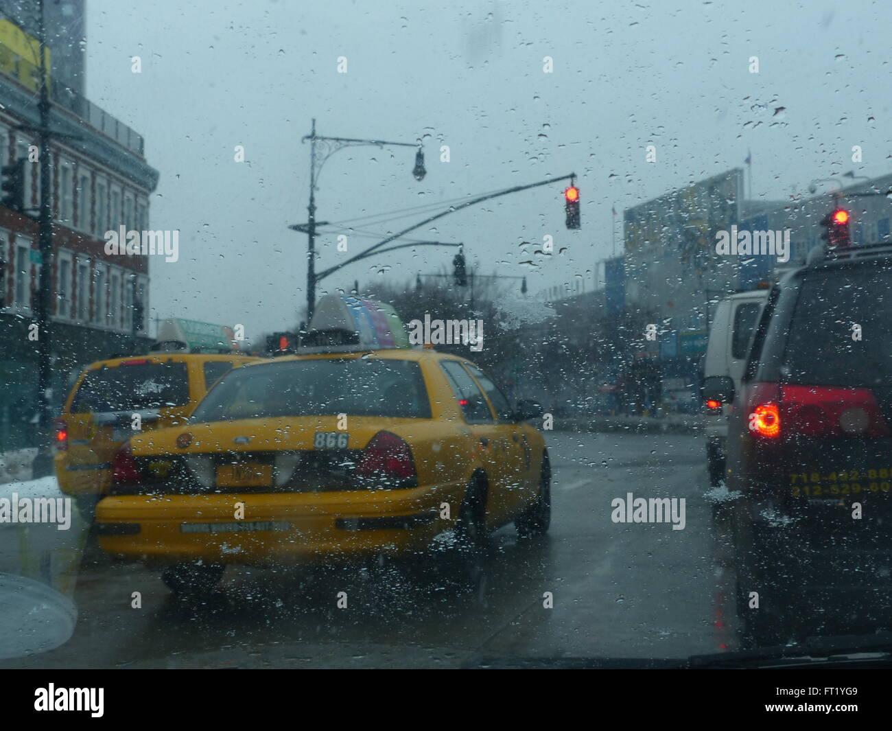 New York City yellowcabs - Stock Image