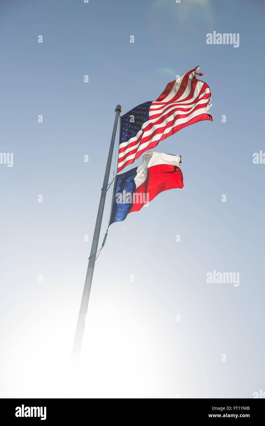 Texas and America stand proudly - Stock Image