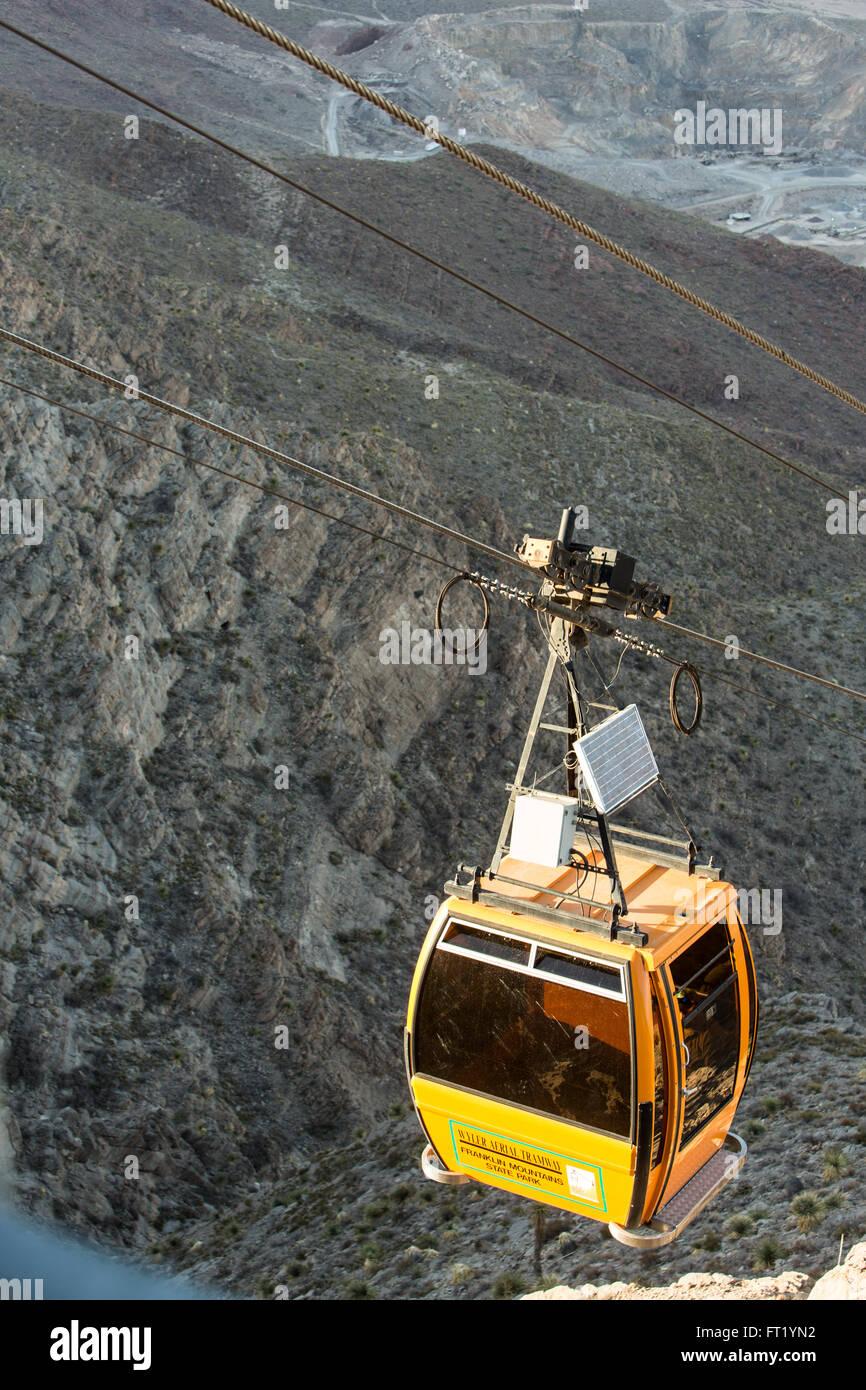 Sandia Peak Tramway (cable car) - Stock Image