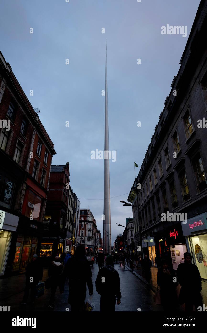 The Spire of Dublin, Republic of Ireland, Europe - Stock Image