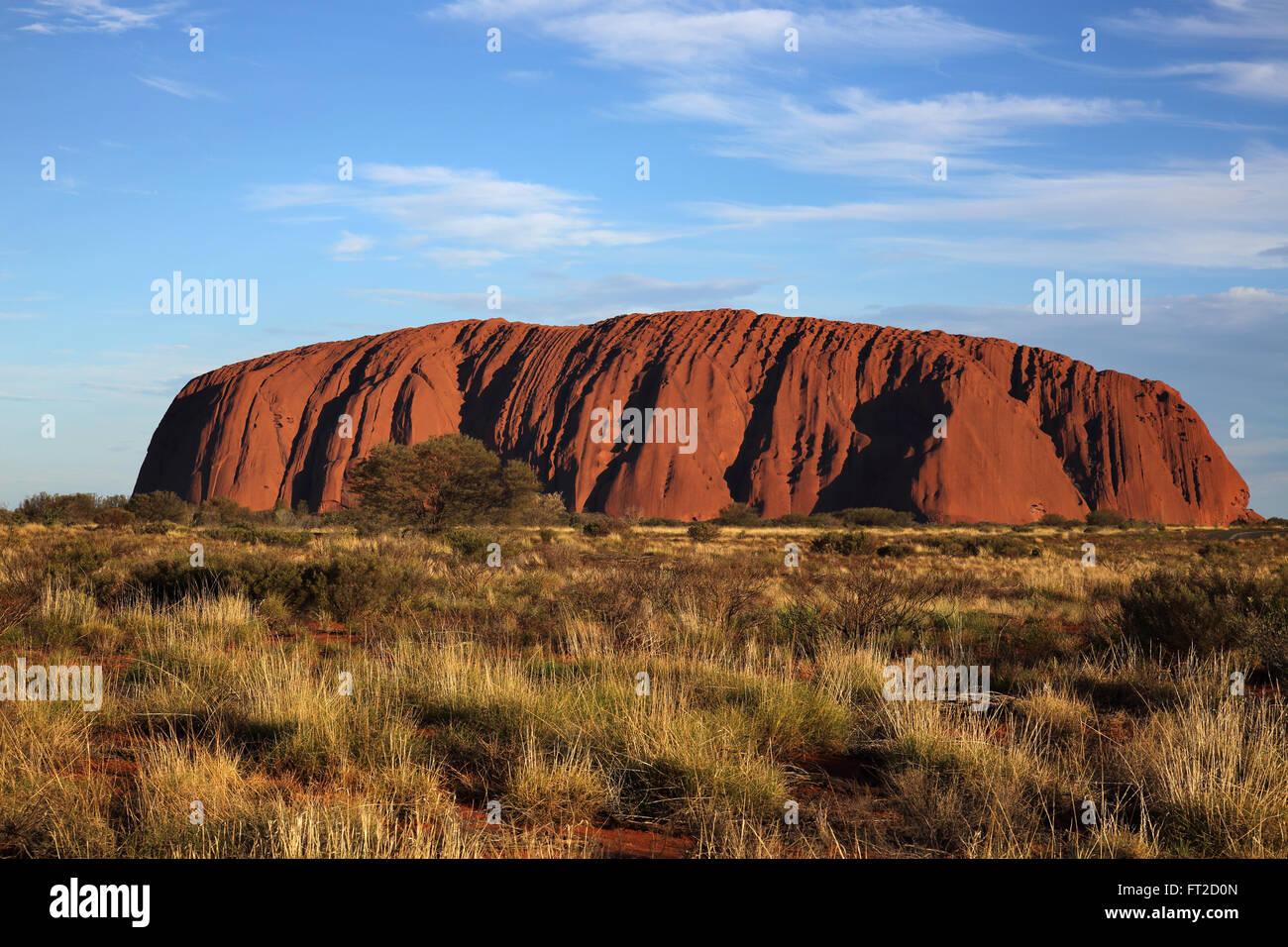 sunset at uluru in the northern territory australia - Stock Image