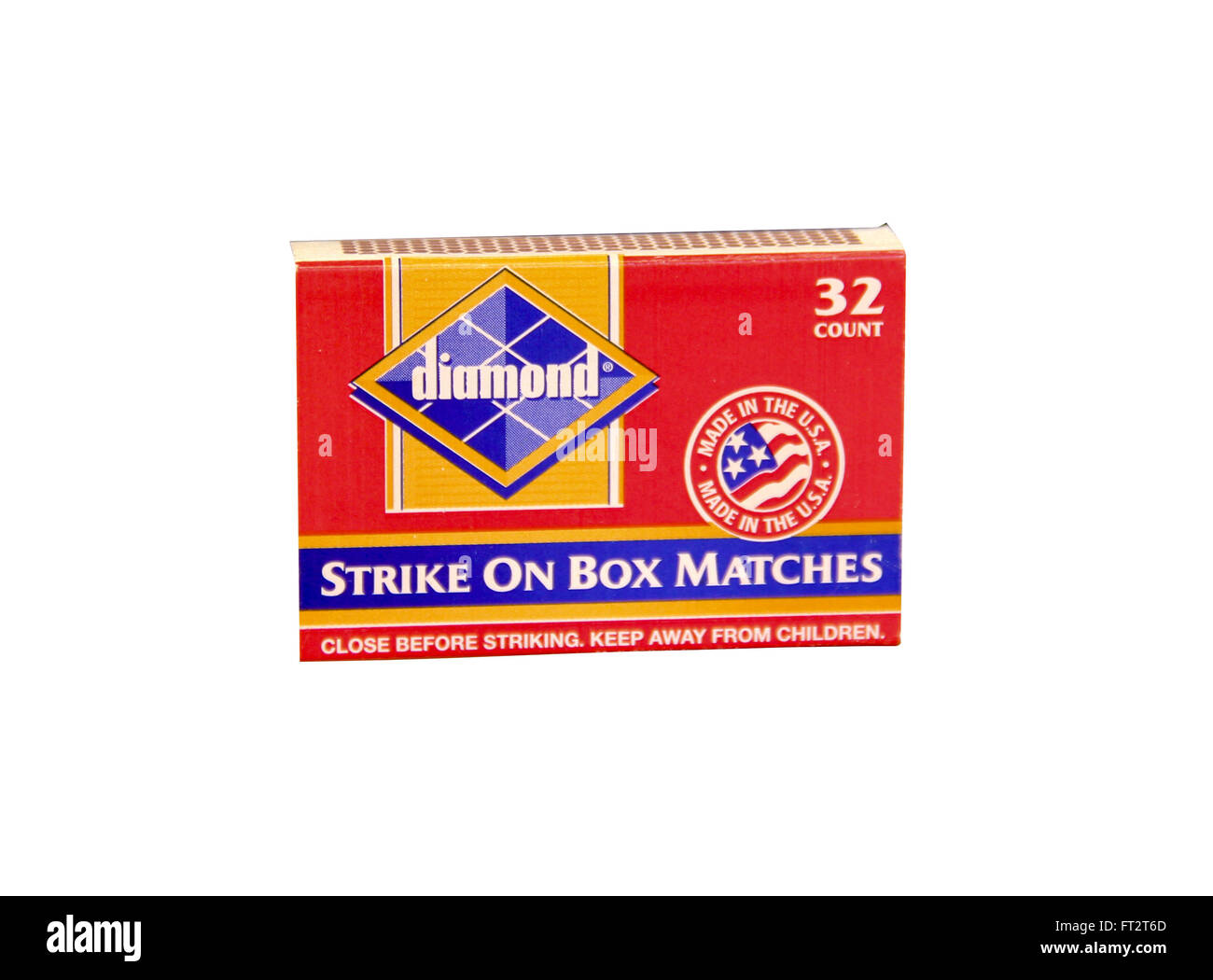 SPENCER , WISCONSIN- MARCH 22, 2014 :  box of Diamond Wooden Matches. Diamond Match Company is an American Company - Stock Image