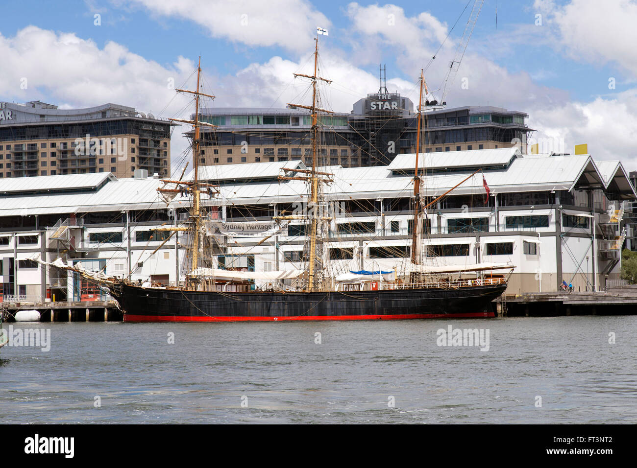 Sydney Heritage Fleet with Star Casino in background - Stock Image