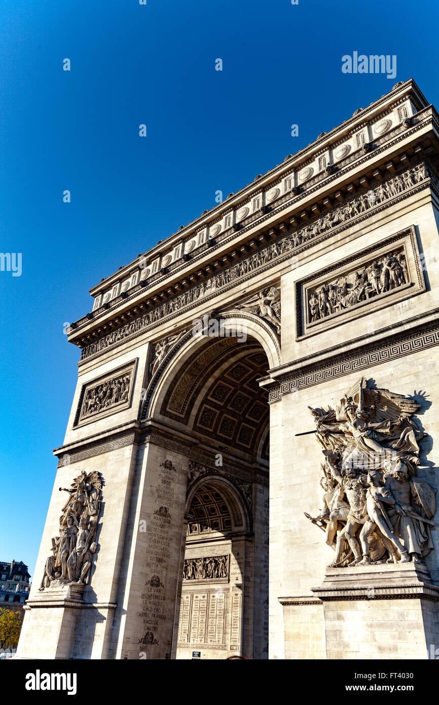 Arc de Triomphe in Paris - Stock Image