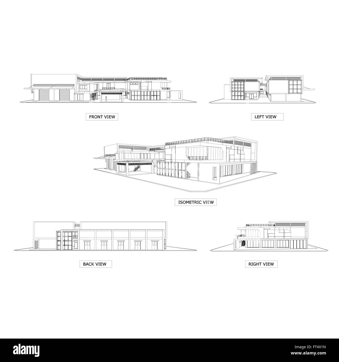 3d Sketch Drawing Of Building Architecture Elevation Drawing And