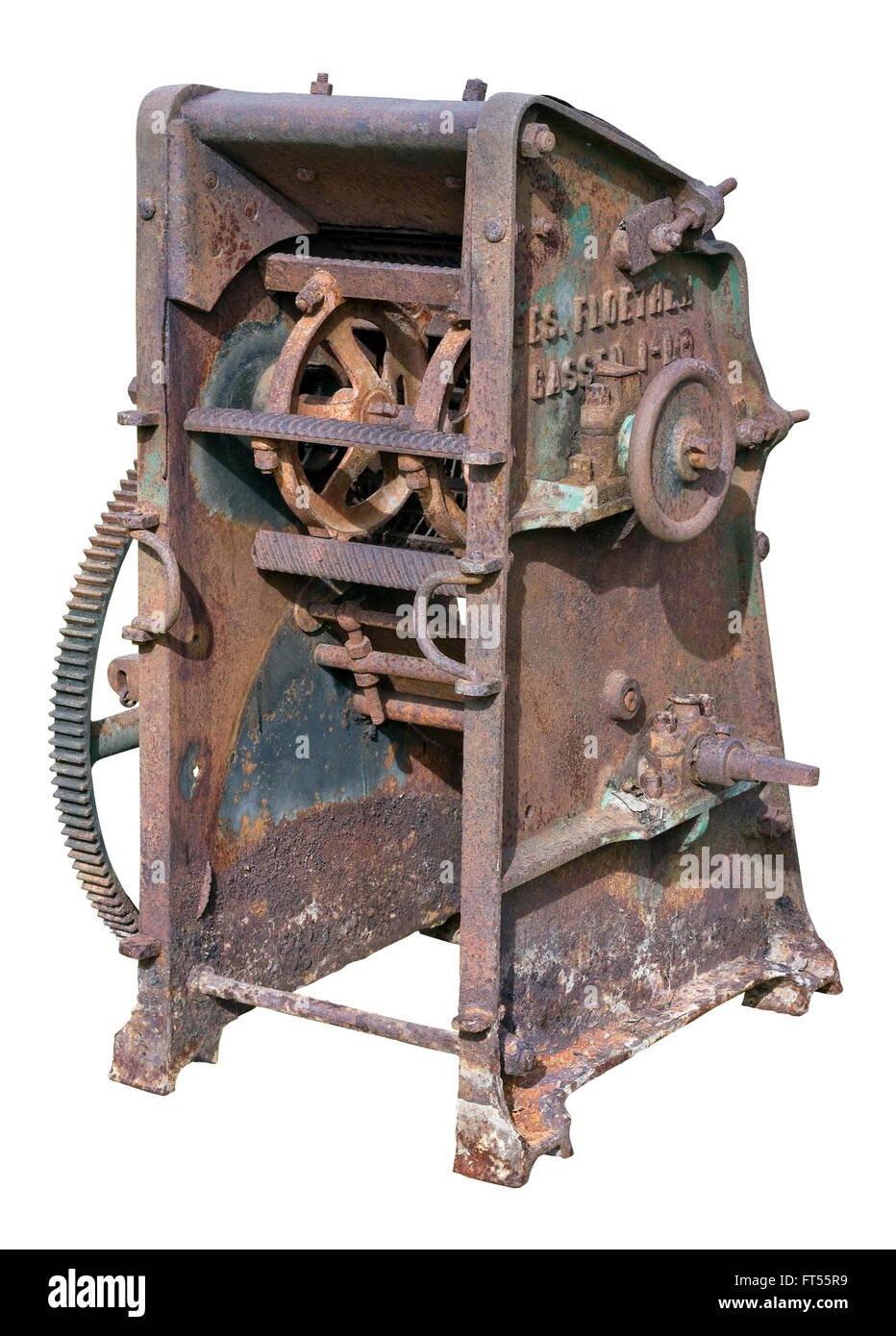 9bfd0414 Retro vintage rusty agricultural machinery - mechanism for Stock ...